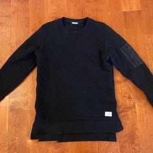 Jack & Jones Black Diamond Quilted Long Sweatshirt